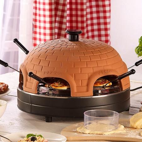 four-a-pizza-1200w-6-mini-pizza-1-grande-pizza-dome-en-terre-cuite-pem-pz-600